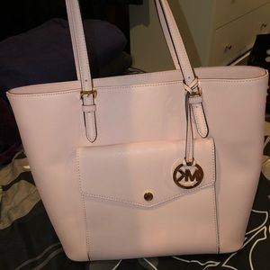 Light Pink Michael Kors Large Tote Bag